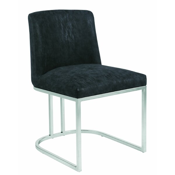 Modred Upholstered Side Chair In Black By Orren Ellis