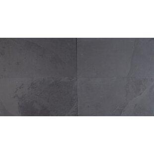 Montauk 12 X 24 Slate Field Tile In Black