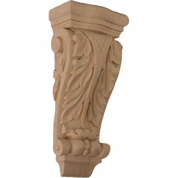 Farmingdale Acanthus 10H x 4 1/2W x 2 3/4D Small Pilaster Corbel in Lindenwood by Ekena Millwork