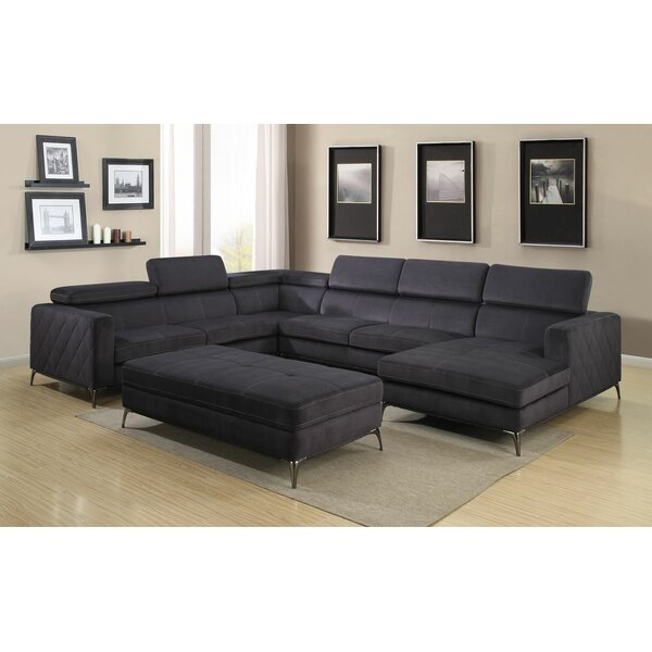 Terrell Sectional with Ottoman by Orren Ellis