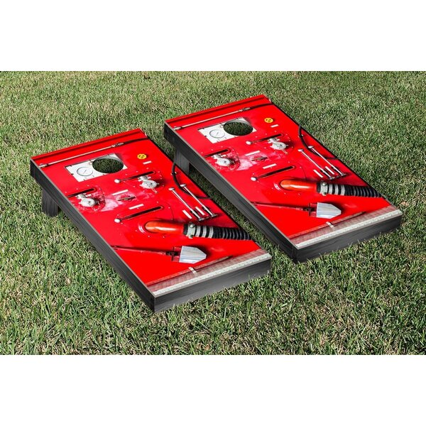 Fire Equipment Themed Cornhole Game Set by Victory Tailgate