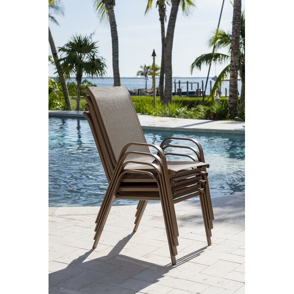 Café Stacking Patio Dining Chair (Set of 4) by Pa