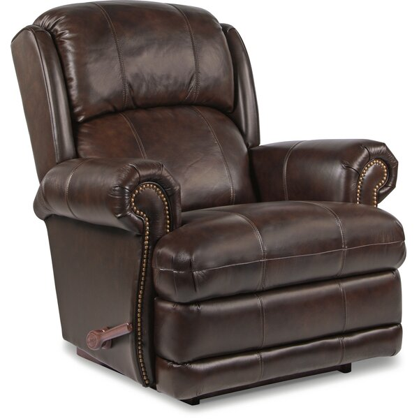 Kirkwood Leather Manual Rocker Recliner by La-Z-Boy
