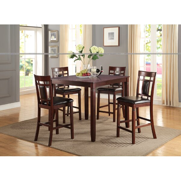 Festa 5 Piece Counter Height Dining Set by Winston Porter