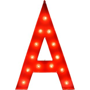 Inexpensive Letter 13-Light Outdoor Marquee Light By TrekBeds