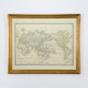 Framed world map wayfair world map framed graphic art gumiabroncs Choice Image