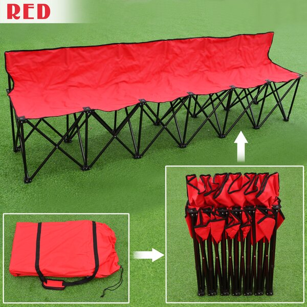 Nadia Folding Camping Bench by Freeport Park