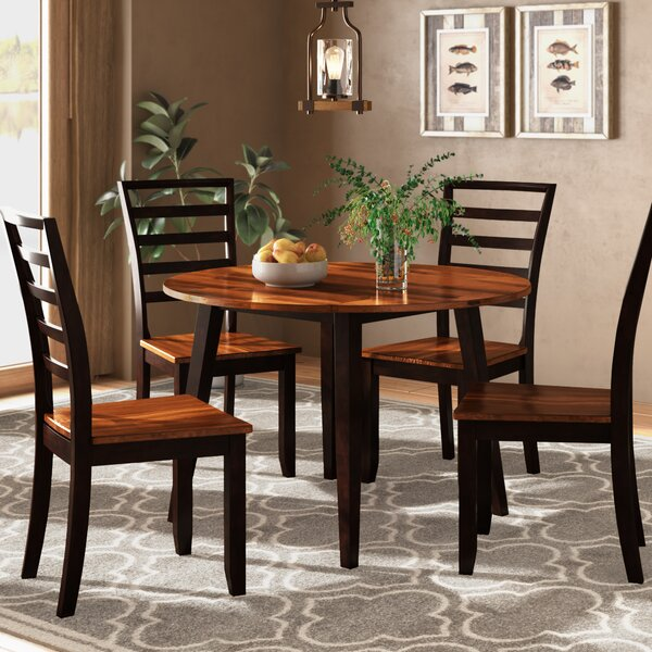 Hidalgo 5 Piece Drop Leaf Dining Set by Millwood Pines Millwood Pines