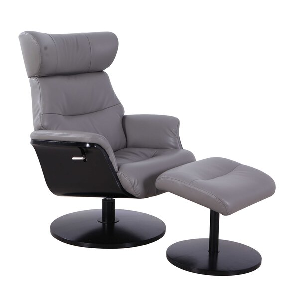 Knarr Manual Swivel Recliner With Ottoman By Red Barrel Studio