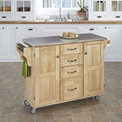 Adelle A Cart Kitchen Island With Granite Top