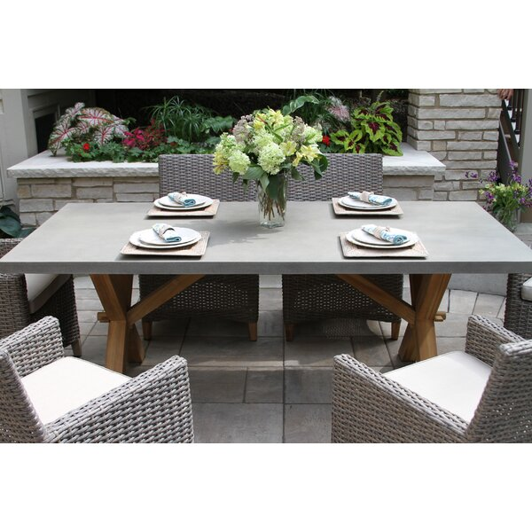Marcel Stone/Concrete Dining Table by Gracie Oaks