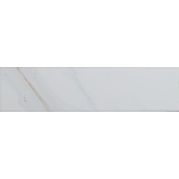 Classique Calacatta 4 x 16 Ceramic Tile in White by MSI