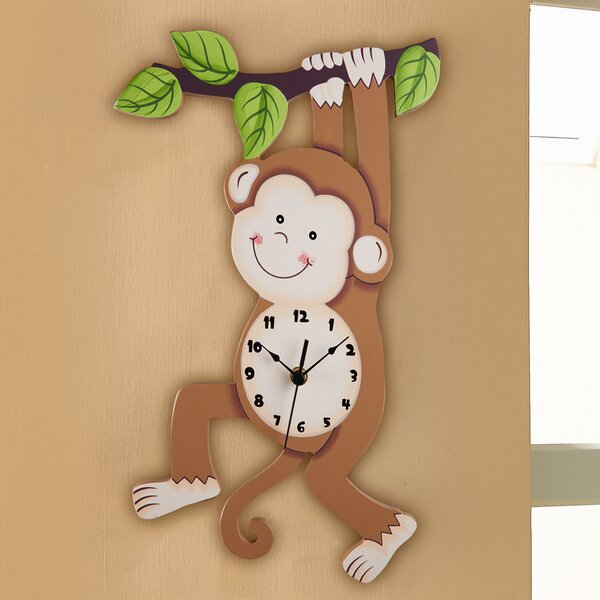 Fantasy Fields Sunny Safari Monkey Wall Clock by Fantasy Fields