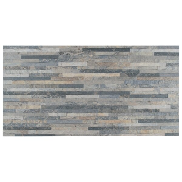 Muro Arriba 12.5 x 24.5 Porcelain Feild Tile in Gray by EliteTile