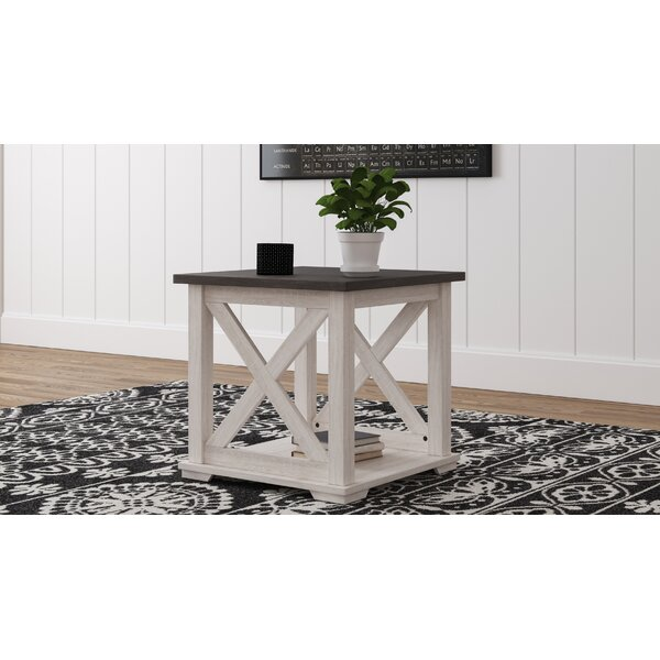 Booker Floor Shelf End Table With Storage By Gracie Oaks