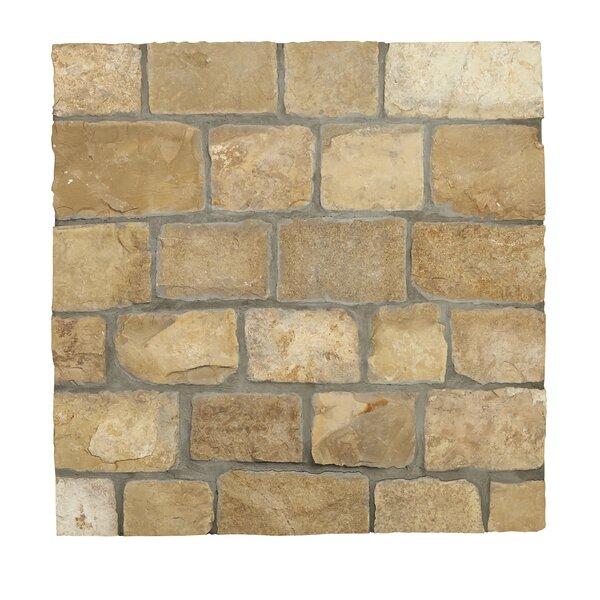 Newport Loose Veneer Limestone Splitface Tile in Beige by MSI