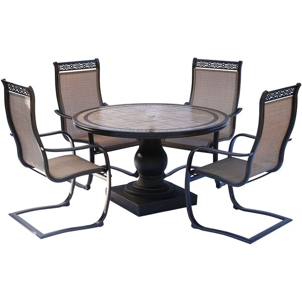 Bucci 5 Piece Dinning Set by Fleur De Lis Living