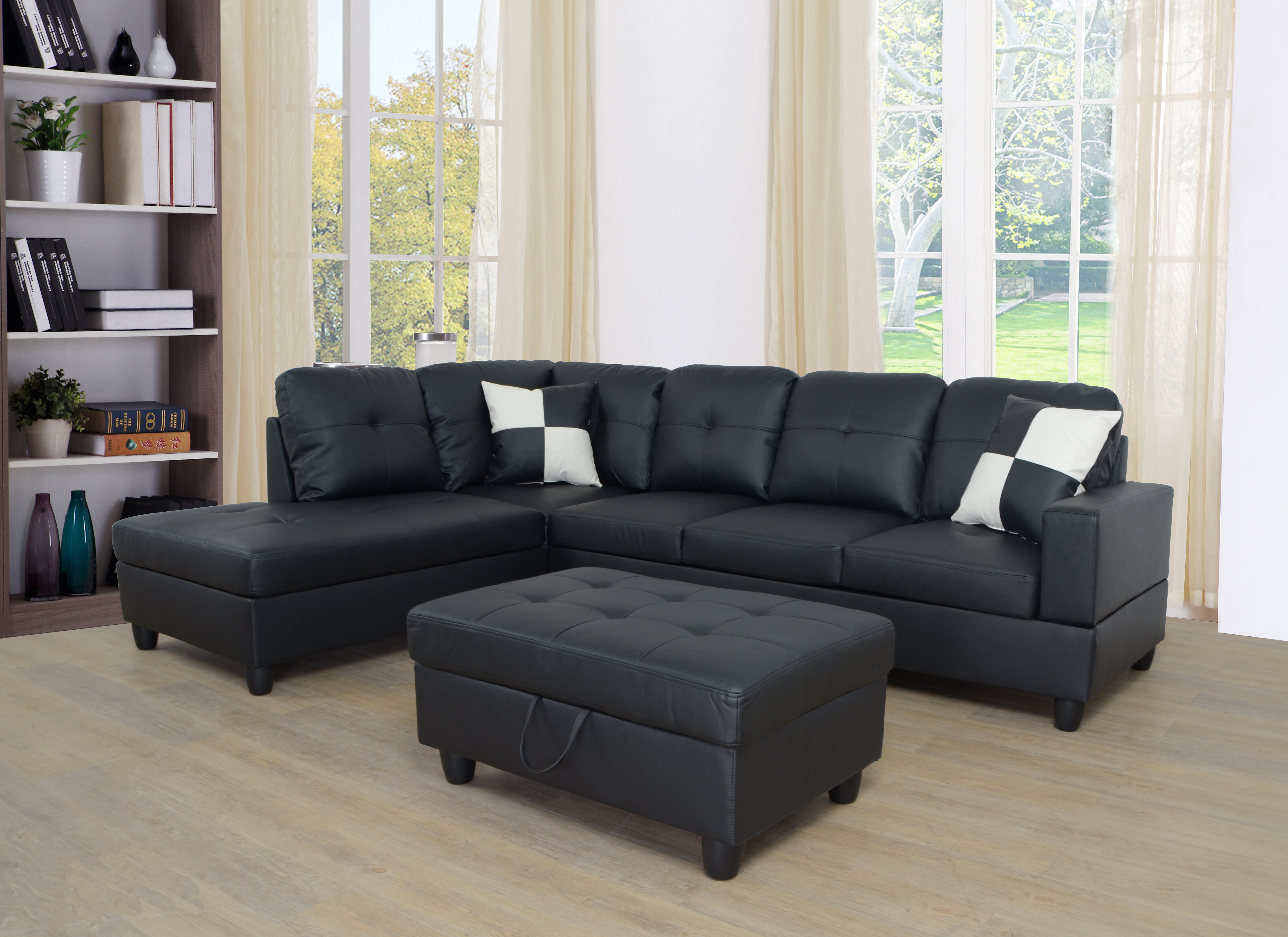 Ebern Designs Wellington Living Room Sectional With Ottoman