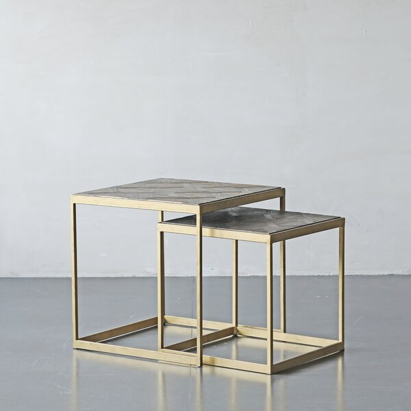 Horta Frame Nesting Tables by Everly Quinn Everly Quinn