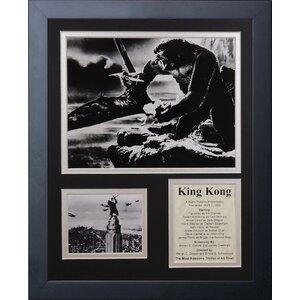 King Kong Framed Memorabilia by Legends Never Die