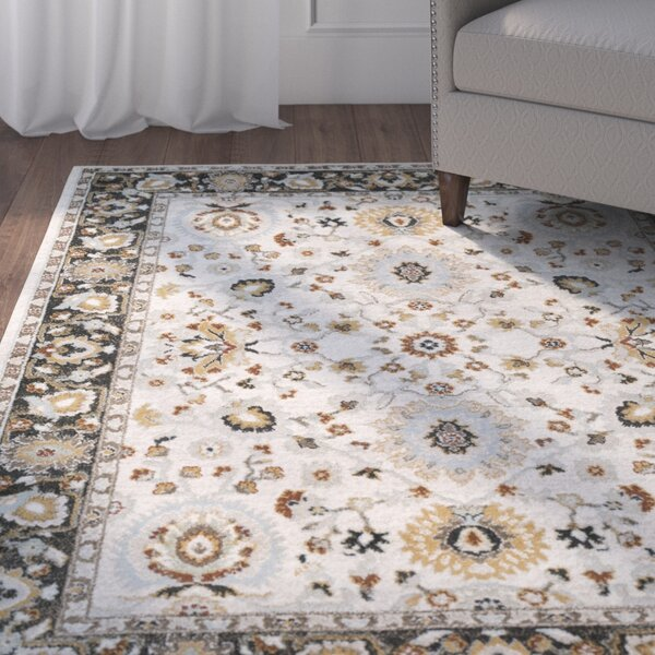 Lenora Pale Blue Area Rug by Charlton Home