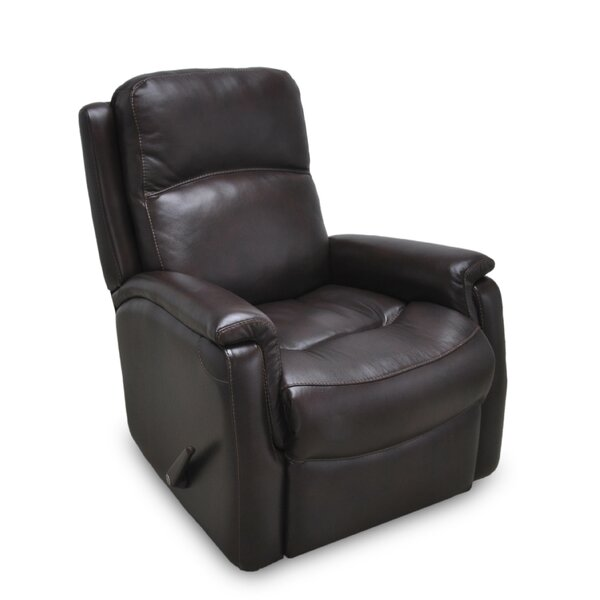 Mackey Leather Manual Rocker Recline [Red Barrel Studio]