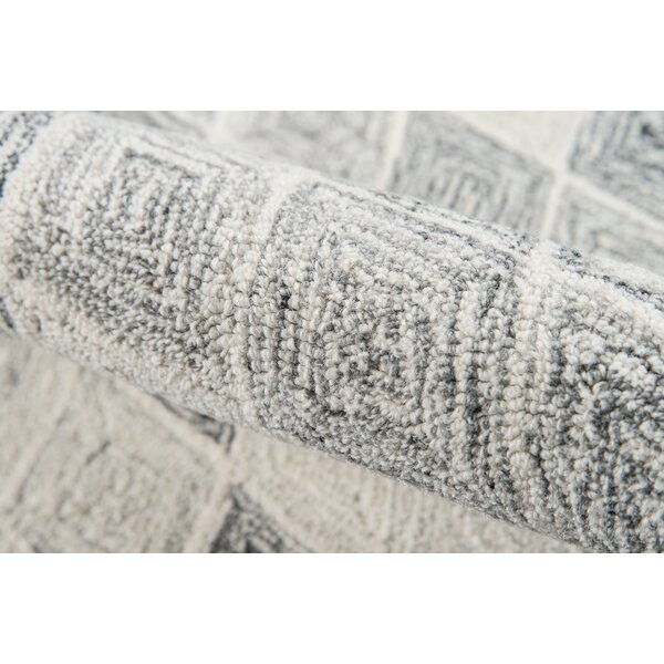 Harmond Hand-Tufted Wool Gray Area Rug by Ebern Designs