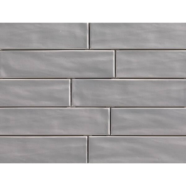 Organic Brick 3 x 12 Porcelain Field Tile in Smoke by Travis Tile Sales