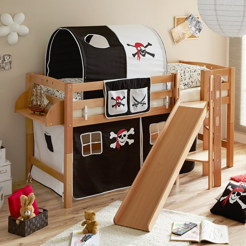 ticaa halbhochbett fino mit rutsche matratze und textilien 90 x 200 cm bewertungen. Black Bedroom Furniture Sets. Home Design Ideas