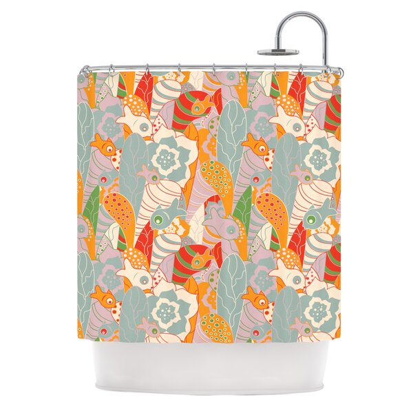 Fishes Here, Fishes There 2 by Akwaflorell Shower Curtain by East Urban Home