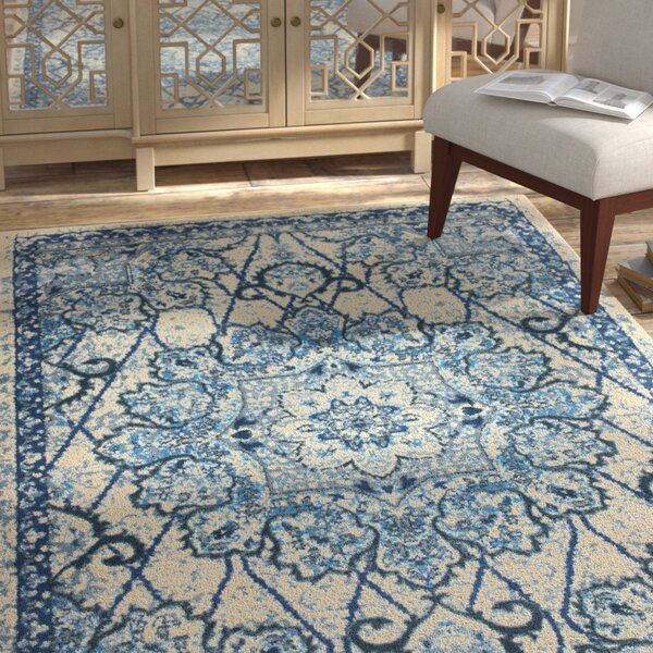 Bowers Blue/Beige Area Rug by Bungalow Rose