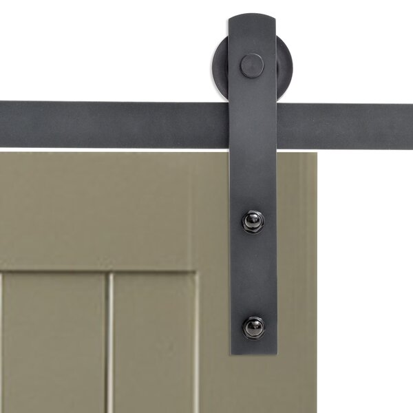 Classic Straight Strap Sliding Door Track Barn Door Hardware by Calhome
