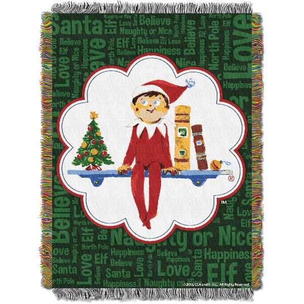 Elf On The Shelf - Xmas Tradit Tapestry Throw by Northwest Co.