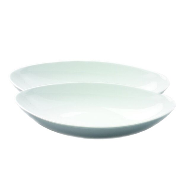 Entertainment Serveware 2 Piece Oval Platter Set by Omniware