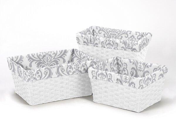 Elizabeth 3 Piece Basket Liner Set by Sweet Jojo Designs