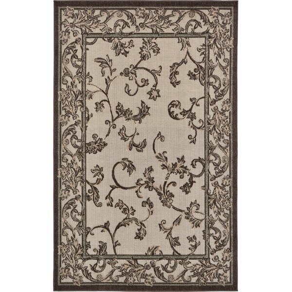 Augustine Beige/Brown Indoor/Outdoor Area Rug by Fleur De Lis Living
