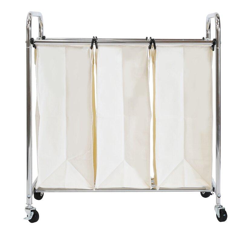 3 bag laundry sorter. Wayfair Basics 3 Bag Laundry Sorter Y