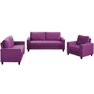 Sofa Set Morden Style Couch Furniture Upholstered Armchair, Loveseat And Three Seat For Home Or Office (1+2+3-Seat) by Mercer41