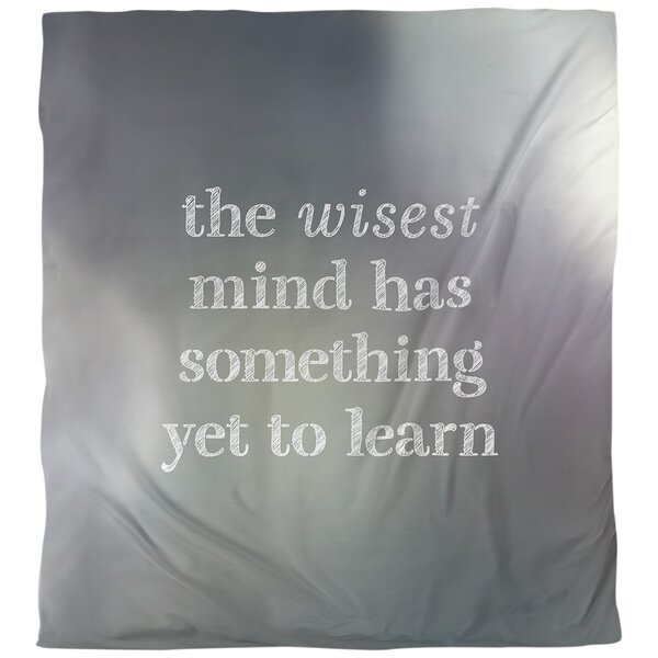 Quotes Learning Inspirational Single Reversible Duvet Cover