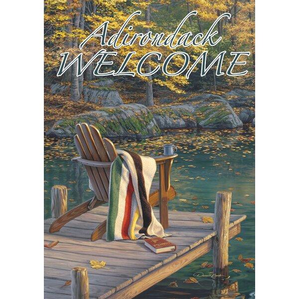 Adirondack at the Pond-Adirondack Welcome Garden flag by Toland Home Garden