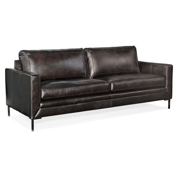 Coltrane Leather Sofa by Hooker Furniture