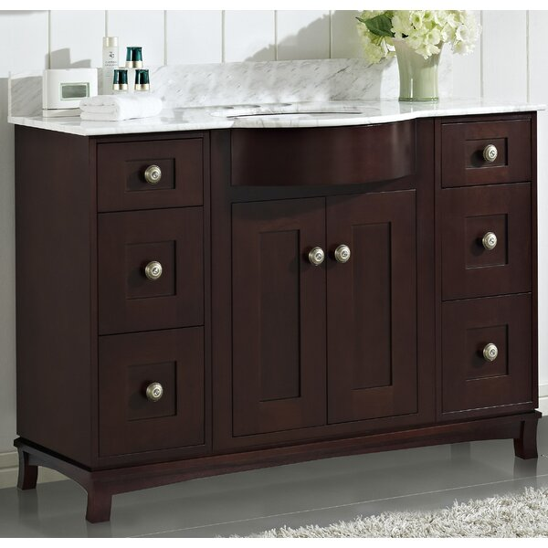Kester Transitional 48 Multi-layer Stain Wood Single Bathroom Vanity Set by Darby Home Co