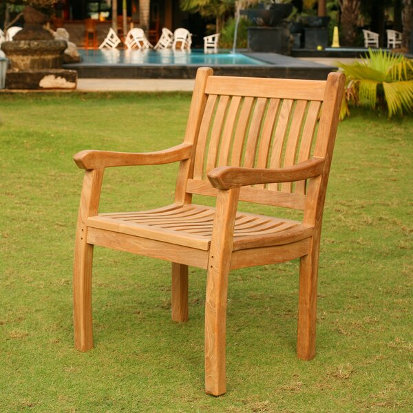 Georgia-May Teak Patio Dining Chair by Darby Home Co Darby Home Co