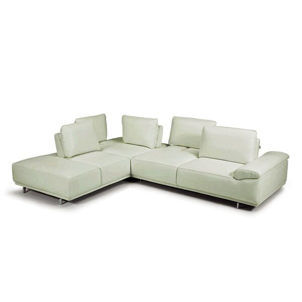Roxanne Leather Sectional by Bellini Modern Living