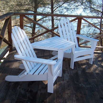 Tete-a-Tete Plastic Adirondack Set by POLYWOOD®