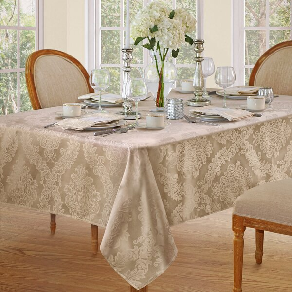 Maid Damask Fabric Tablecloth by Ophelia & Co.