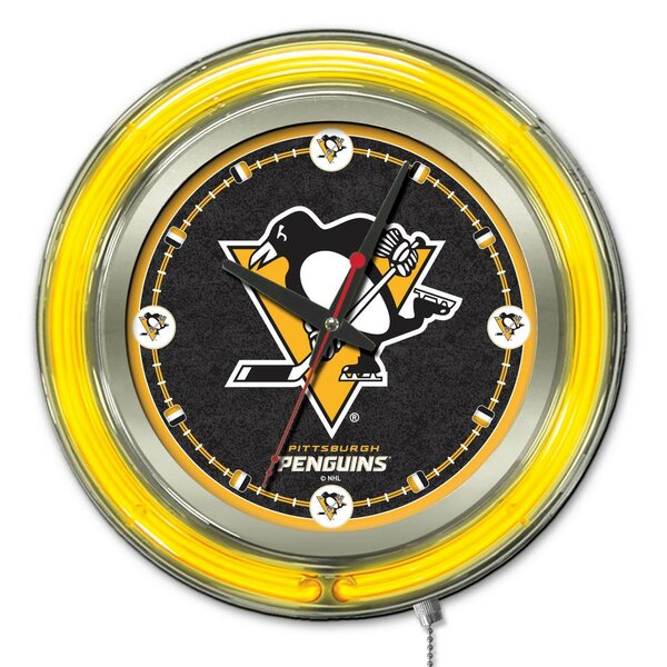 Nhl 15 Double Neon Ring Logo Wall Clock By Holland Bar Stool.