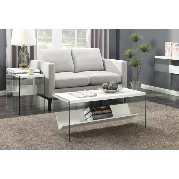 Calorafield Coffee Table With Storage by Wade Logan