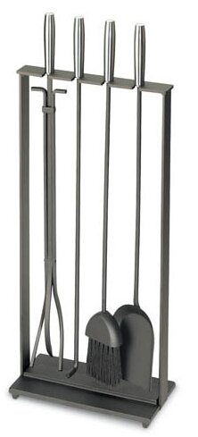 Soldiered Row Modern 5 Piece Steel Fireplace Tool Set by Pilgrim Hearth