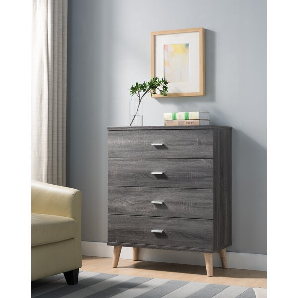 Grosso 4 Drawer Chest by Wrought Studio
